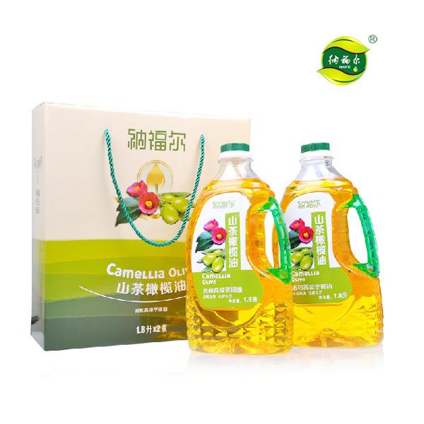 【纳福尔】山茶橄榄油1800ml*2/礼盒