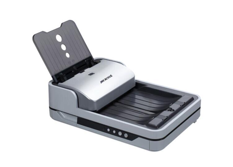 MICROTEK FileScan 3222 中晶双平台双面高速扫描仪A4平板馈纸式节能自动进纸高清照片发票名片