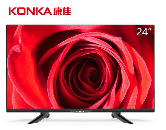 康佳(KONKA) LED24E330C 24英寸高清窄边液晶平板电视 支持显示器(黑色)