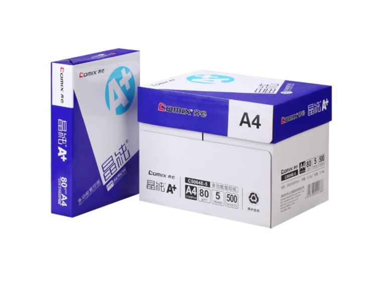 齐心(Comix) 晶纯A+复印纸 80g 500张/包 5包/箱