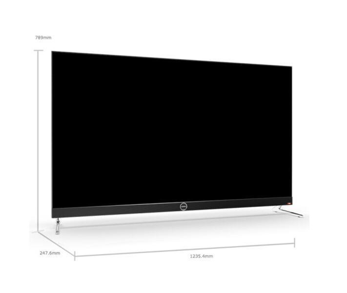 康佳(KONKA)LED55X8S 55英寸无边全面屏 超薄金属机身 36核人工智能2.0 前置JBL音箱 4K平板电视机