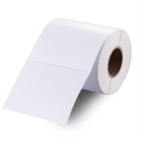 齐心 100*80mm 500张/单卷 铜版纸标签 不干胶打印纸 条码纸 铜版纸100*80mm 500张/卷C6431